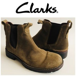 Clarks Distressed Moto Boots Size 9